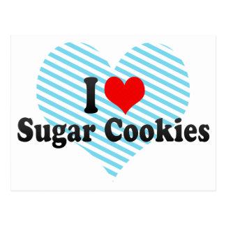 Amo las galletas de azúcar postal