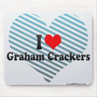 Amo las galletas de Graham Alfombrilla De Ratones