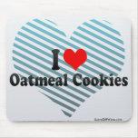 Amo las galletas de harina de avena alfombrilla de ratón