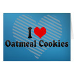 Amo las galletas de harina de avena tarjeton