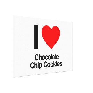 amo las galletas de microprocesador de chocolate impresión en lienzo estirada