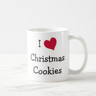Amo las galletas del navidad tazas