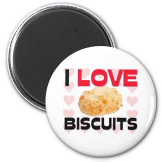 Amo las galletas imán redondo 5 cm