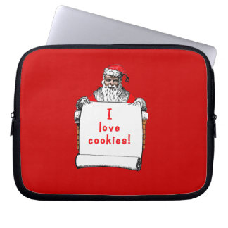 Amo las galletas Papá Noel Funda Ordendadores