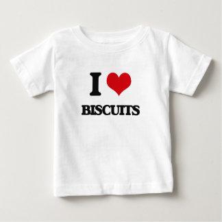 Amo las galletas playera para bebé