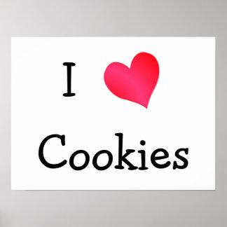 Amo las galletas póster