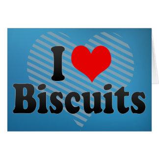 Amo las galletas tarjeta de felicitación