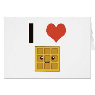 Amo las galletas tarjeta pequeña