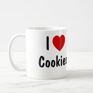 Amo las galletas taza básica blanca