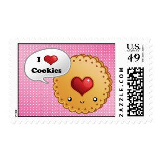 Amo las galletas timbre postal