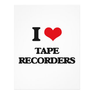 Amo las grabadoras tarjeta publicitaria
