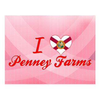 Amo las granjas de Penney, la Florida Tarjeta Postal