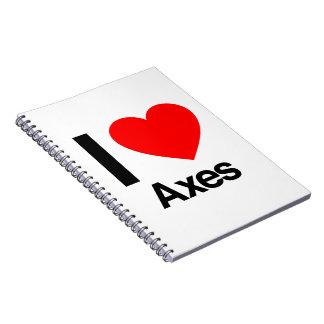 amo las hachas cuaderno