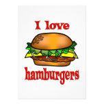 Amo las hamburguesas anuncios