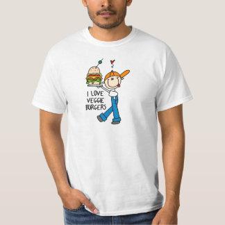 Amo las hamburguesas del Veggie Camisas