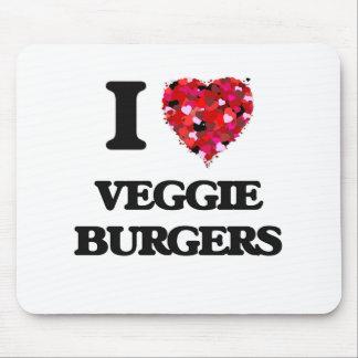 Amo las hamburguesas del Veggie Tapete De Ratones