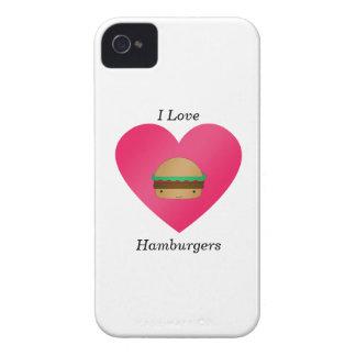 Amo las hamburguesas Case-Mate iPhone 4 funda