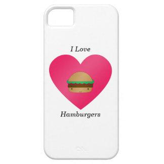 Amo las hamburguesas iPhone 5 protector