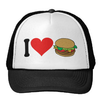 Amo las hamburguesas * gorras de camionero
