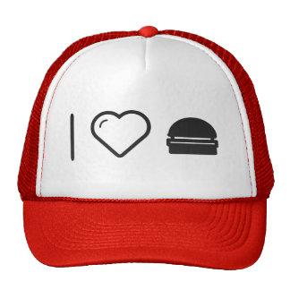 Amo las hamburguesas regulares gorro