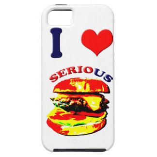 Amo las hamburguesas serias iPhone 5 carcasas