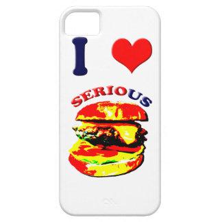Amo las hamburguesas serias iPhone 5 Case-Mate carcasas
