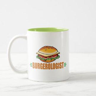 Amo las hamburguesas taza de dos tonos