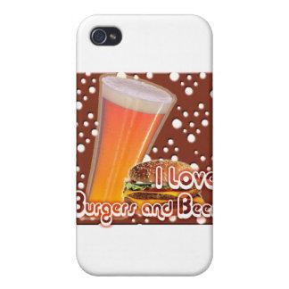 Amo las hamburguesas y la cerveza Brewskies iPhone 4 Cobertura
