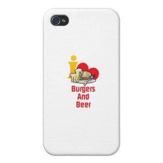 Amo las hamburguesas y la cerveza iPhone 4 cobertura