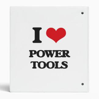 Amo las herramientas eléctricas carpeta 2,5 cm