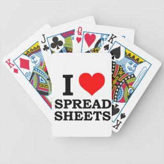 Amo las hojas de balance cartas de juego