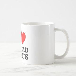 Amo las hojas de balance tazas de café