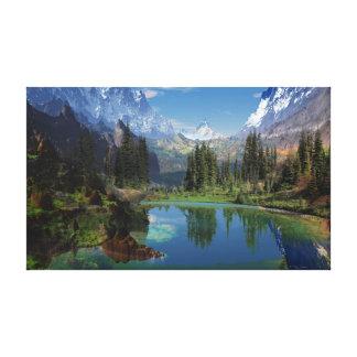 Amo las impresiones de la lona de las montañas roc lienzo envuelto para galerías