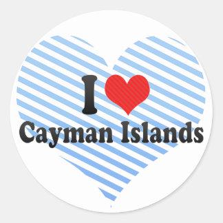Amo las Islas Caimán Pegatina