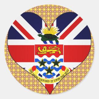 Amo las Islas Caimán Etiqueta Redonda
