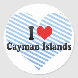 Amo las Islas Caimán Pegatina Redonda