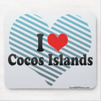 Amo las islas de Cocos Tapete De Raton