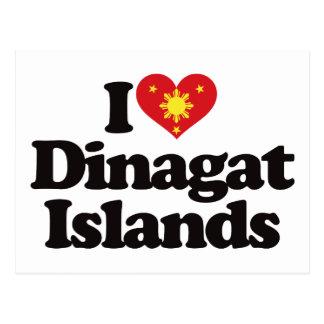 Amo las islas de Dinagat Tarjetas Postales