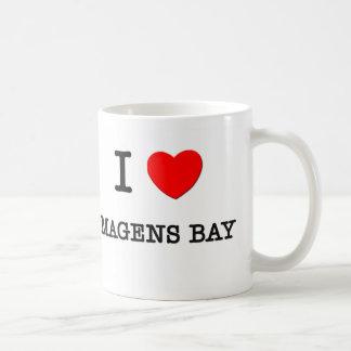 Amo las Islas Vírgenes de la bahía de Magens Taza De Café