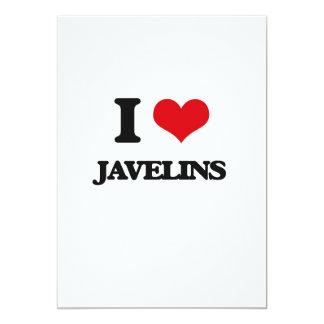 Amo las jabalinas invitación 12,7 x 17,8 cm