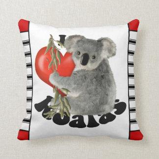 Amo las koalas lindas cojín
