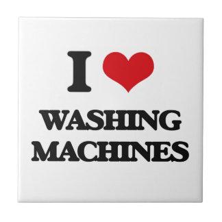 Amo las lavadoras azulejo cuadrado pequeño