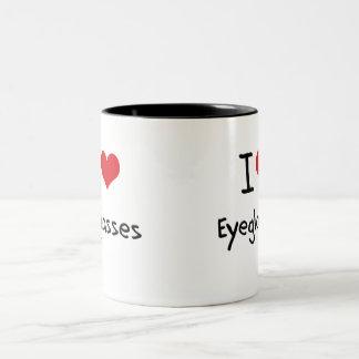 Amo las lentes taza de dos tonos