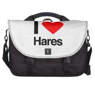 amo las liebres bolsas para portatil