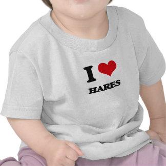 Amo las liebres camiseta