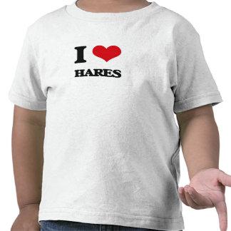 Amo las liebres camisetas