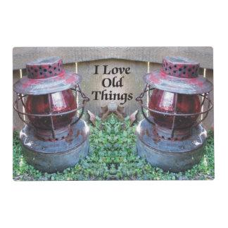 Amo las linternas antiguas Placemat de las viejas Tapete Individual