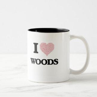 Amo las maderas taza de dos tonos