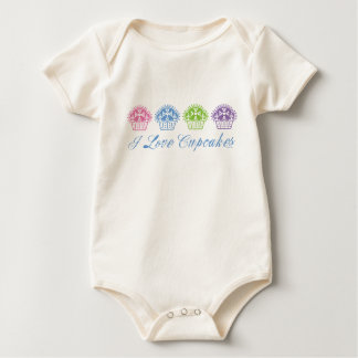 Amo las magdalenas bonitas mamelucos de bebé