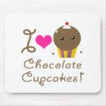 Amo las magdalenas del chocolate tapete de ratones